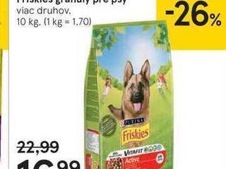 Friskies granuly pre psy, 10 kg