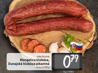 Obrázok  Mangalica klobása, Dunajská klobása 100 g
