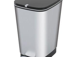 Nášľapný odpadkový kôš 22 l strieborný