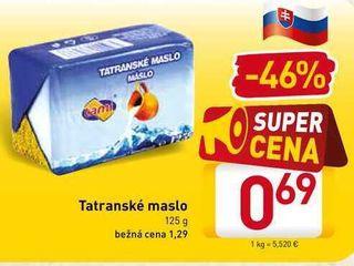 Tatranské maslo 125 g