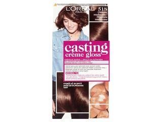 L'Oréal Castin Creme Gloss farba na vlasy 518 orieškové mochaccino 1x1 ks