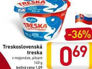 Treskoslovenská treska  140 g