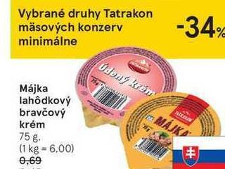 Májka lahódkový bravčový krém, 75 g