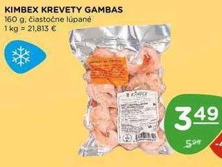 KIMBEX KREVETY GAMBAS 160 g