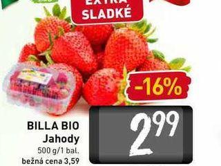 BILLA BIO Jahody  500 g
