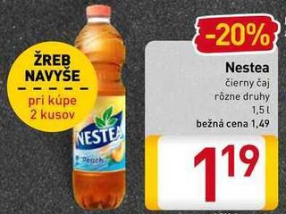 Obrázok  Nestea čierny čaj  1,5l