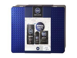 Nivea Men Deep Active sprchový gél 250ml + voda po hol.+ antiperspirant + krém