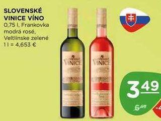 SLOVENSKÉ VINICE VÍNO 0,75 l