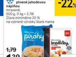 Stará mama knedličky plnené jahodovou náplňou, 500 g