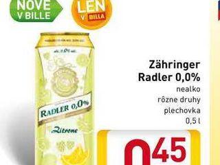Zahringer Radler nealko 0,5 l