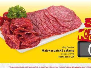 Obrázok  Malokarpatská saláma  100 g