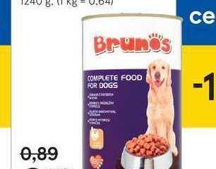 Brunos konzerva pre psy, 1240 g