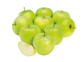 Zelené jablká Golden Delicious