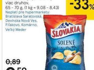 Slovakia čipsy a vrúbky, 65 - 70 g