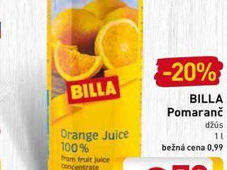 Obrázok   BILLA Pomaranč  1 l