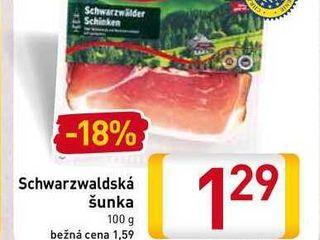 Obrázok  Schwarzwaldská šunka 100 g