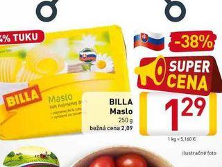 Obrázok  BILLA Maslo  250 g