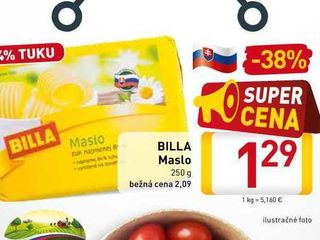 BILLA Maslo  250 g