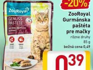 ZooRoyal Gurmánska paštéta pre mačky 85 g
