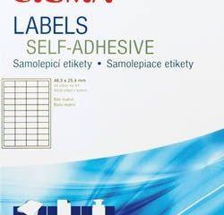 Etikety 105x148mm biele SIGMA 100listov