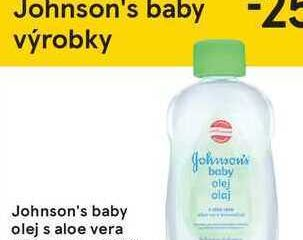 Johnson's baby olej s aloe vera, 200 ml