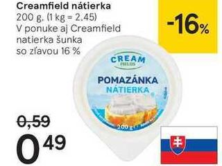 Creamfield nátierka, 200 g