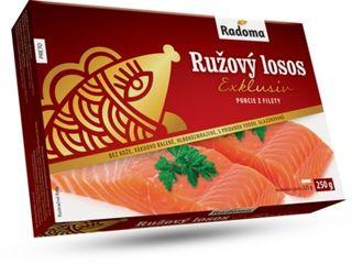 Obrázok Ružový losos porcie z filety bez kože 250g