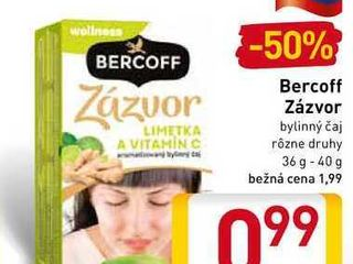 Bercoff Zázvor bylinný čaj  36-40 g
