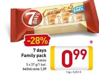 7 days Family pack  5x37 g