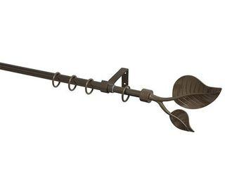 Záclonová tyč Blatt pr. 13/16 mm, 70 - 120 cm, mosadzná