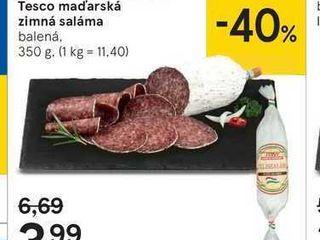 Tesco maďarská zimná saláma, 350 g