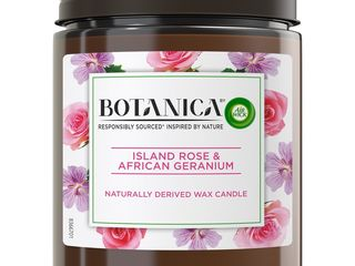 Obrázok Air Wick Botanica Exotická ruža a africká pelargónia sviečka 1x205 g
