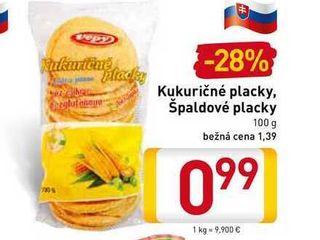 Kukuričné placky, Špaldové placky 100 g