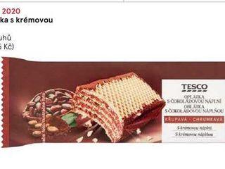 obrázek  Tesco Oplatka s krémovou náplní, 47 g