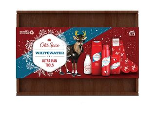 Old Spice Whitewater dezodor.+ sprch.gél + ASL + tuhý dezod.+ ponožky + drevený box