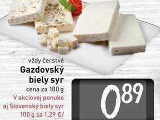 Obrázok   Gazdovský biely syr  100 g