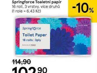 Springforce Toaletní papír, 16 ks
