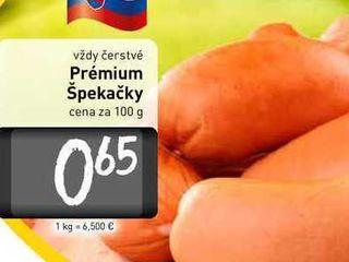 Obrázok  Prémium Špekačky  100 g