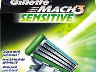 Gillette Mach 3 sensitive náhradné hlavice 1x8 ks