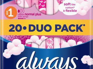 Always ultra duo sensitive normal dámske vložky 1x20 ks
